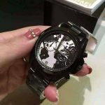 Hunger Stop Black-Tone Oversized Bradshaw Watch - MK6271