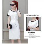 F&F korean fashion dress with belt casual dress cod