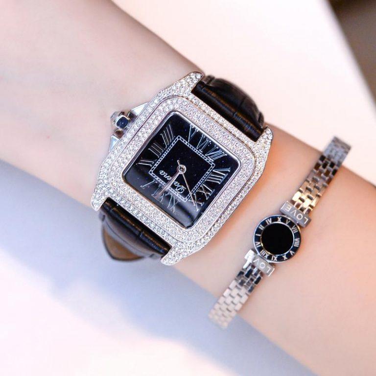 New Style Hong Kong Davena davena watch watches women watch watches Fashion Luxury Diamond watch watches Leather Belt Quartz watch watches Waterproof