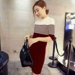 Linkco Knitted Dress Elegant Dress Korean Dress Longsleeves (COD)  A035