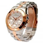 Marc By Marc Jacobs MBM Blade Chronograph Silver Dial Two-tone Ladies Watch (MBM3178)