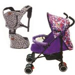 Baby Stroller ZT-419 Bundle with BC009 Baby Carrier Hip Seat Backpack