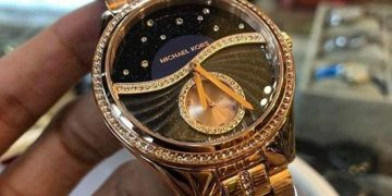 Authentic Celestial Pave Rose Gold-Tone Lauryn Women's Watch