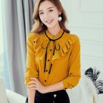 Caidaifei 2019 Spring And Summer New Style Korean Style Large Size Slimming Fashion Shirt Leisure women Versatile Trend Chiffon Shirt