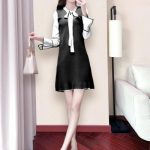 Autumn new fashion Korean version of loose long sleeve dress
