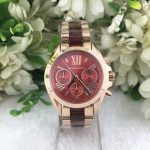 MK Bradshaw Ceramic Authentic Watch Red Dial (Rose Gold) MK6270
