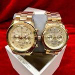 MK Michael Kors Limited edition New Design Single or couple watch Athentic Rosegold & Gold