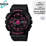 CLEARANCE SALE BEST SELLER Casio Baby-G Women's Black Neon Pink Watch BA111-1A
