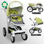 Viki S306AS Infant Portable Reversible Bassinet Transport Stroller Basket Pushcart