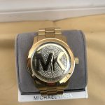 Michael Kors Gold crystal pave dial watch
