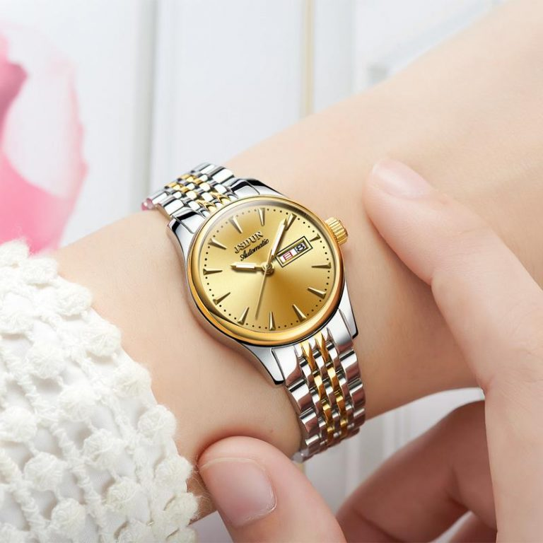 JSDUN Product Ladies' watch watches Fashion Fully Automatic Analog watch watches Clean Steel Waterproof Double Calendar Couple's watch watches