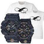 GA110 Tribal Black & BA110 Tribal Black Couple Watch with FREE Couple Shirt