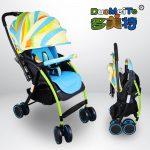 T05 Rainbow Reversible Handle Newborn Infant Baby Stroller