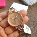 Rose Gold Tone Watch ES4350 Womens Jacqueline Three Hand