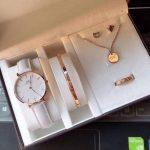 Fls/DW oem watch set/rosegold whitestrap