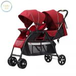 Double Baby Stroller Red