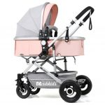 Lightweight Folding Antishake Lying Sitting Baby Stroller for Outdoor All Year Use