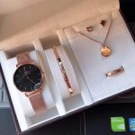 Fls/DW Oem unisex watch set/rosegold