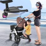 Fashion Children Stroller Pedal Adapter Second Child Auxiliary Trailer Twins Scooter Hitchhiker Kids Standing Plate