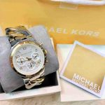 Authentic Mk Watch Twisted Two Tone