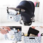 Bag Stroller Organizer Mummy Bags Baby Stroller Accessories Buggy Nappy blue Pram Light Bags Storage Bag Carriage Diaper Cart