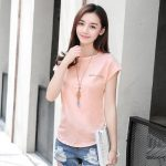 S-3XL Free Shipping  Summer fashion loose  round neck short-sleeved cotton t-shirt female nail drill solid color large size blouse for women's top new