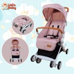 Hello Baby KDD-C006 Portable Folding Baby Infant Stroller (Pink)