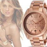 Michael Kors MK Bradshaw Oversize Chronograph Rose Gold-tone Ladies Watch (MK5503)