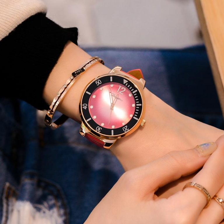 Fashion Big watch watches women Quartz watch watches Handsome to Fried of Big Dial Leather Belt Waterproof watch watches