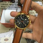 Bright FS/ Fossil Casual unisex watch/Gold