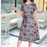Women Dress Flower Korean Style Fashion Casual Smart Body Fit One Size