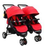 Fashion Twin Patent Baby Split Double Stroller