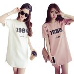 KILY Korean New Fashion Long T Shirt Dress 5A0020
