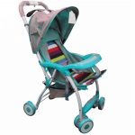 ABS Foldable Cartoon Bunny Ears Portable Baby Stroller