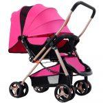 Four-wheel Foldable Pram Baby Stroller - intl