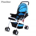 MoonSater 1602 Foldable Pram Portable Baby Stroller with Universal Casters - intl