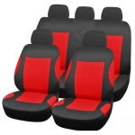 9 PCS Red Car Seat Covers Anti-Dirty Pad Scratch Resistant Full Seat Cover Automobiles Seat Covers Auto Four Seasons