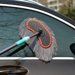 Vehicle Cleaning Mop Long Telescopic Pure Cotton Soft Bristle Brush Tool Only Towels Wipe a Car Tool Kit Car Supplies
