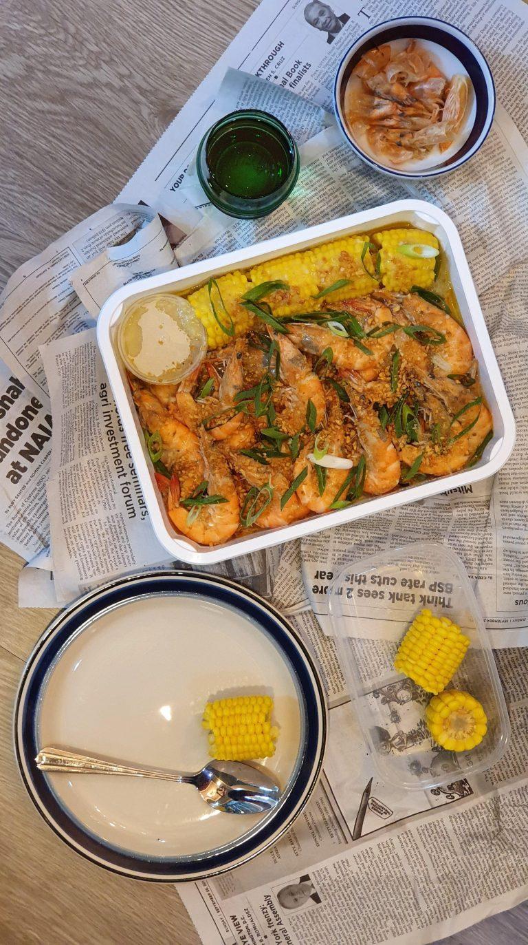 Signature Buttered Garlic All Shrimp Platter