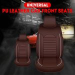 1 Pc Universal Car Front Seat Cover Waterproof Non-Slip Pad Car Seat Cushion Car Seat Protection Cover PU Leather Mats Safety Seats