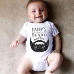 (Dotsonshop) Newborn Infant Baby Boy Girl Romper Letter Moustache Bodysuit Clothes Outfits