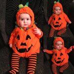 Foctroes Newborn Baby Boy Girl Pumpkin Halloween Hooded Romper Bodysuit Costume Outfits Girls Romper Jumpsuit Baby Children Clothes