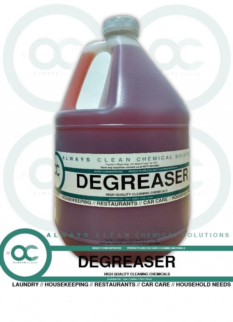 DEGREASER 4 GALLONS CAR CARE WITH 500ML SPRAY BOTTLE