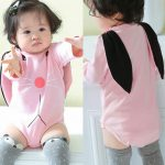 MoKiEShop cute Toddler Infant Baby Girls Boys Cartoon Rabbit Ear Hooded Romper Jumpsuit Outfits