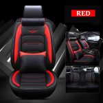 Luxury Car Seat Cover 5-Seats Cushion Covers PU Leather&Linen Full Set