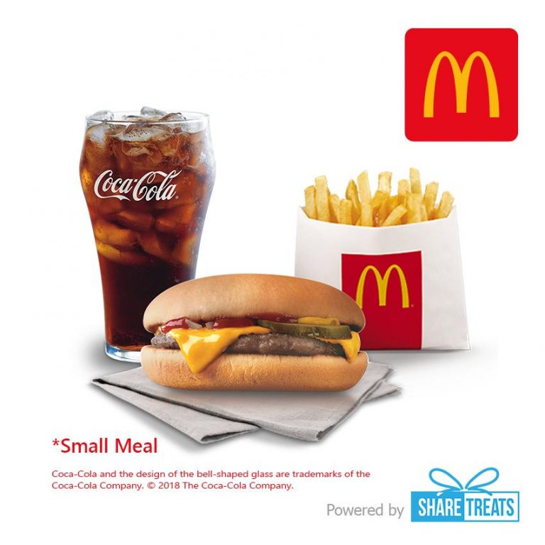 McDonald's Cheeseburger Small Meal (SMS eVoucher)