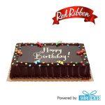 Red Ribbon Chocolate Dedication Cake Reg (SMS eVoucher)