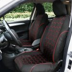 loveCar101 9 set Car Front+ Rear Seat Covers Full Seat Covers Seat Cushion Mats?PU Leather+ red quilting?