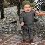 {Pop Goes The Weasel}  Toddler Kids Baby Boys Girls Solid Tops Pants Homewear Casual Outfits Sets