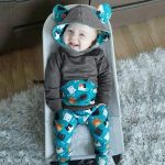 Infant Baby Boys Girls Long Sleeve Animal Print Hooded Tops Pants Outfits Set